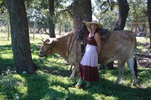 Tater Tot nice riding longhorn Steer